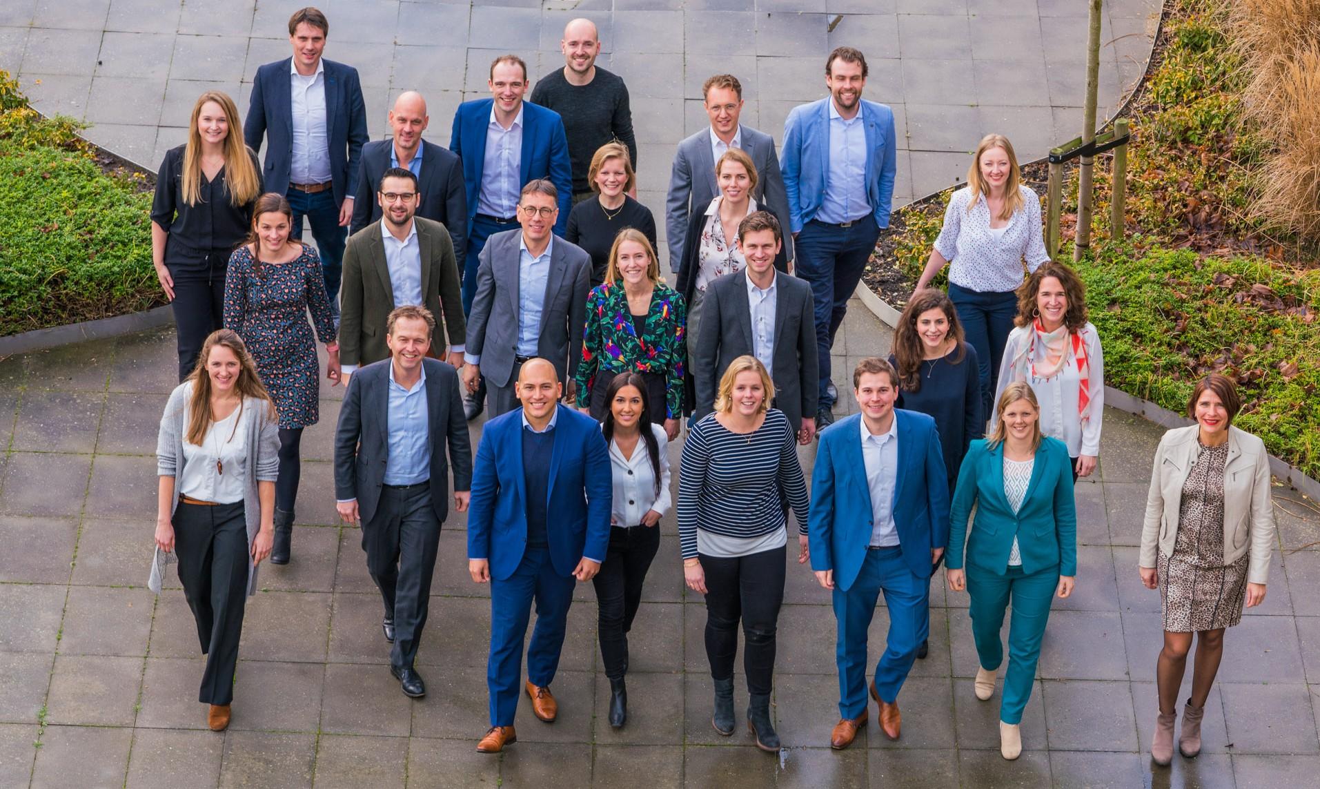 Team van Morgens-collega's